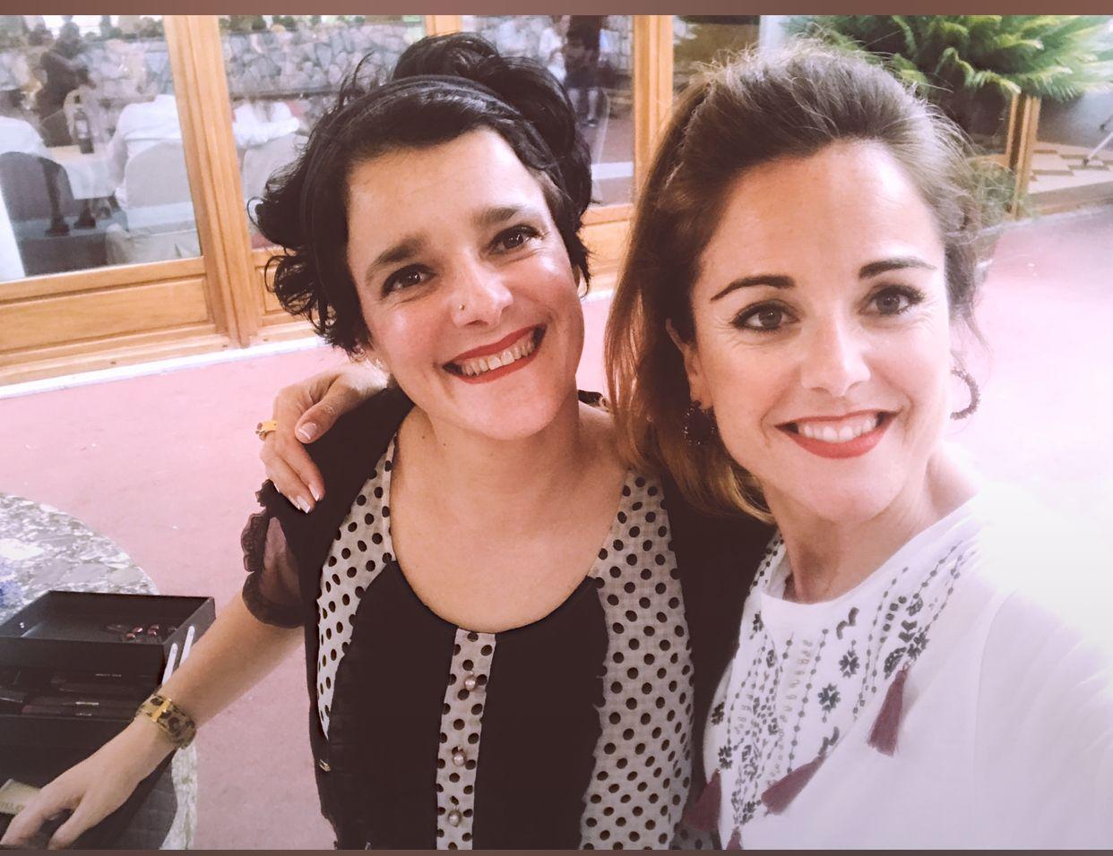 En una boda con mi empresaria y Consultora de Belleza Mary Kay Miren Martinez Irleta
